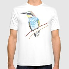 tree bird Mens Fitted Tee White SMALL