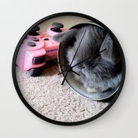 Gamer Bunny Wall Clock