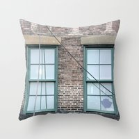 A detail in NYC Throw Pillow