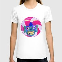 CANDYADDICT MONKEY Womens Fitted Tee White SMALL