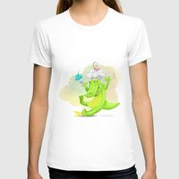 Slippery Gator Womens Fitted Tee White SMALL
