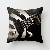 The Guitar Player Throw Pillow