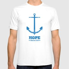 Anchor for the soul. Hebrews 6:19. White Mens Fitted Tee SMALL