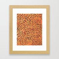 Saulo - Gold Glitter Foi… Framed Art Print