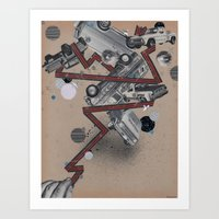 vans,trucks & elvis Art Print