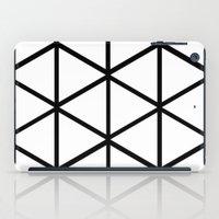 WHITE & BLACK TRIANGLES  iPad Case