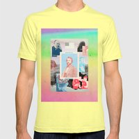 Behind Shiva's Eyes Mens Fitted Tee Lemon SMALL