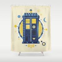 Timey Wimey Shower Curtain