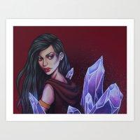 Crystalized Art Print