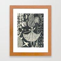 Little Goddess Framed Art Print