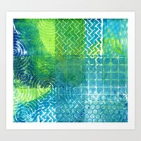 Industrial Blues And Gre… Art Print