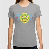 Whatever Happens, Happens. Womens Fitted Tee Tri-Grey SMALL