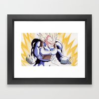 SUPER VEGETA Framed Art Print