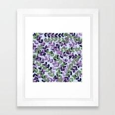 Blue And Green Leaf Patt… Framed Art Print