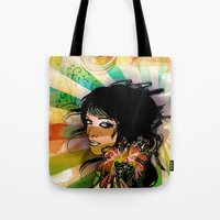 floral girl Tote Bag
