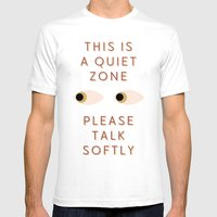 Quiet Zone Mens Fitted Tee White SMALL