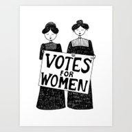 Votes For Women Art Print