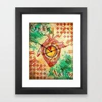 Clock's ticking... Framed Art Print