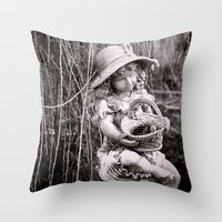Under the Willow Tree II Throw Pillow