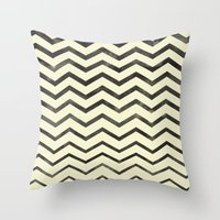 Zag (natural) Throw Pillow