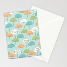 wispy flowers Stationery Cards