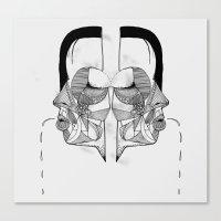 'Face Study I' Canvas Print