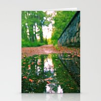 Pathway puddle Stationery Cards