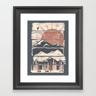 Winter Pursuits... Framed Art Print