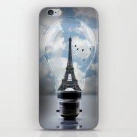 Paris In A Bulb iPhone & iPod Skin