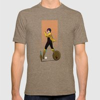GOGO Mens Fitted Tee Tri-Coffee SMALL