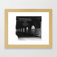It's your choice Framed Art Print