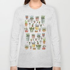 Potted Succulents Long Sleeve T-shirt
