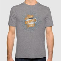 BLACK COFFEE NOW! Mens Fitted Tee Tri-Grey SMALL
