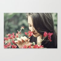 The Flower Lady Canvas Print