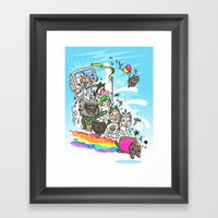 Release The Cats Framed Art Print