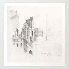 View from MoMA, NYC Art Print