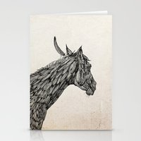 Feather Horse  Stationery Cards