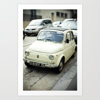 PARIS VI - FIAT 500 Art Print