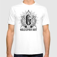 Gold Spirit Art Mens Fitted Tee White SMALL