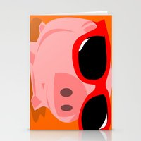 Cool Pig Stationery Cards