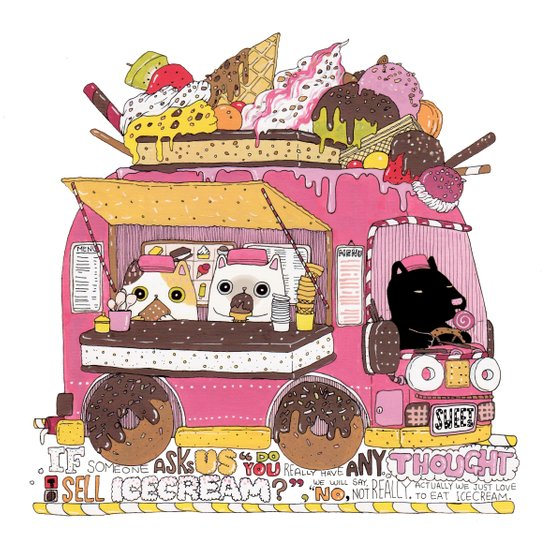 IceCream Truck Art Print