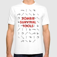 Zombie Survival Tools - Pattern 'o tools Mens Fitted Tee White SMALL