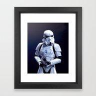 Tattooed Trooper Framed Art Print