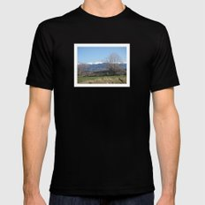 Pyrenees - Spain SMALL Black Mens Fitted Tee