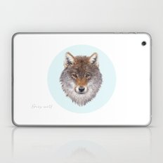 Grey wolf portrait Laptop & iPad Skin