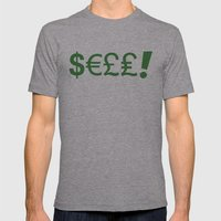 Subliminal Currency Mens Fitted Tee Athletic Grey SMALL