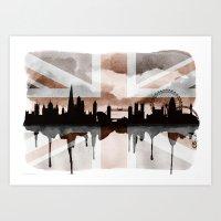 London Skyline 2 Tea Sta… Art Print