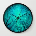A Certain Darkness Is Needed II (Night Trees Silhouette) Wall Clock
