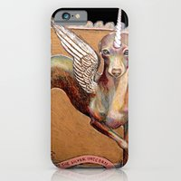 iPhone & iPod Case featuring Kermit the Silver Unicorn by Emily A Robertson