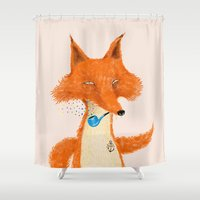 Fox III Shower Curtain